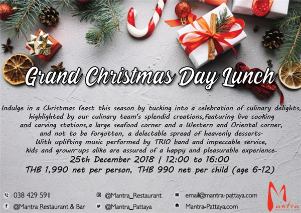 Grand Christmas Day Lunch